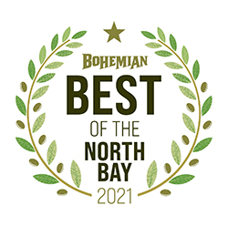 bohemian best of the north bay 2021 logo