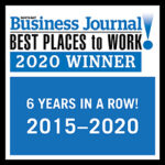 North Bay Business Journals Best Places to Work Winner 6 Years in a Row 2015-2020